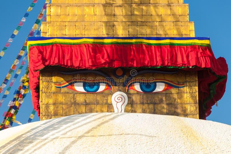 Stupa de Boudhanath em Kathmandu, Nepal foto de stock