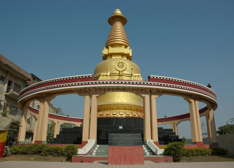 stupa de kadam de l'Inde de bodhgaya photographie stock libre de droits