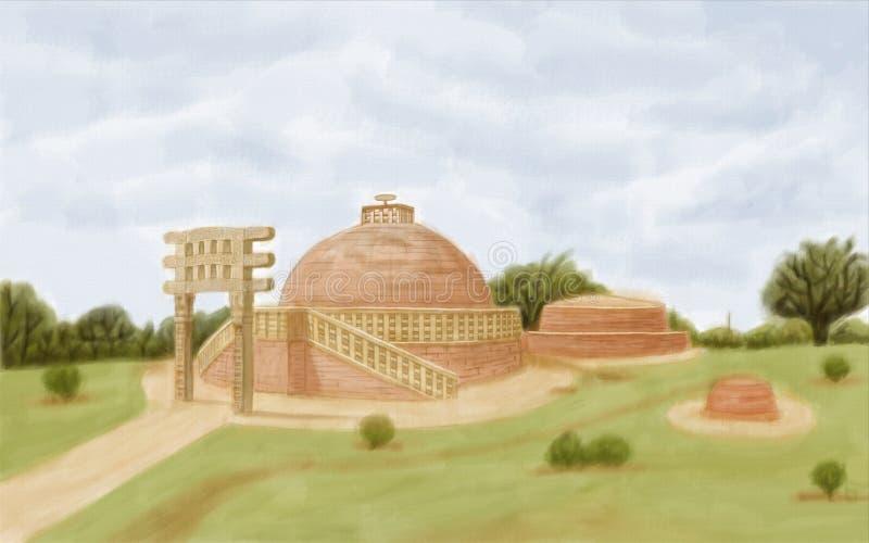 Stupa de Sanchi imagens de stock