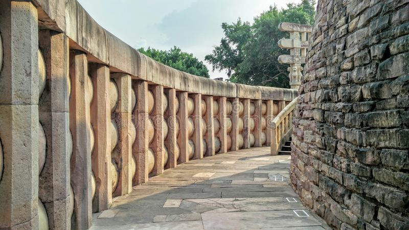 Stupa de Sanchi images stock