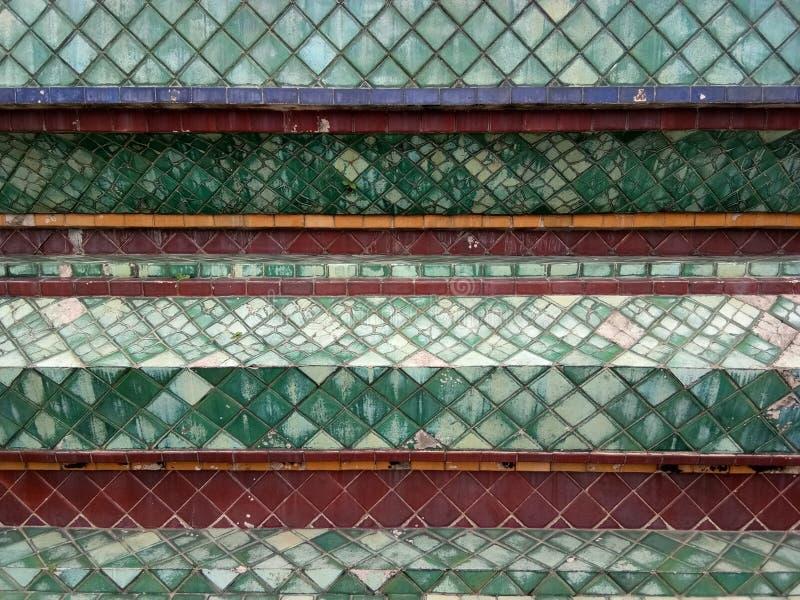 Stupa del mosaico a Wat Pho, tempio in Tailandia immagini stock