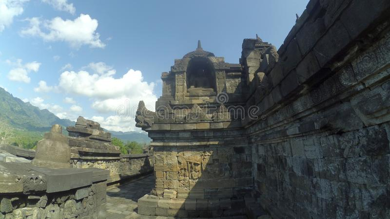 Stupa del templo de Borobudur en Muntilan, Java central fotografía de archivo libre de regalías