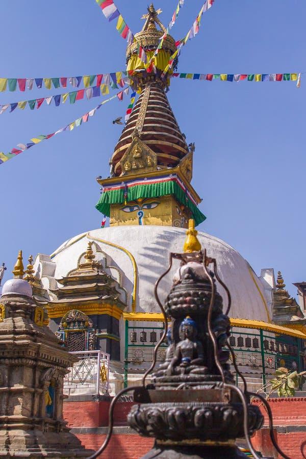 Stupa di Swayambhunath, Kathmandu, Nepal fotografia stock