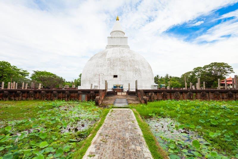 Stupa do budista de Yatala Wehera fotografia de stock