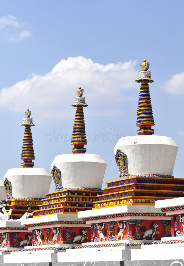 Stupa du Thibet photographie stock
