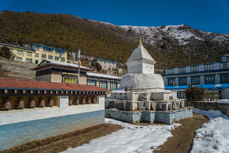 Stupa em Nepal foto de stock royalty free