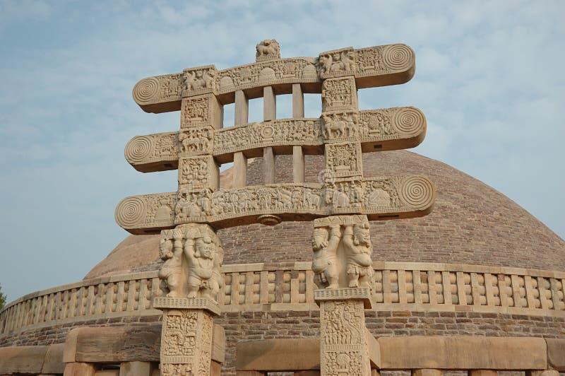 Stupa Gates in Sanchi royalty free stock image