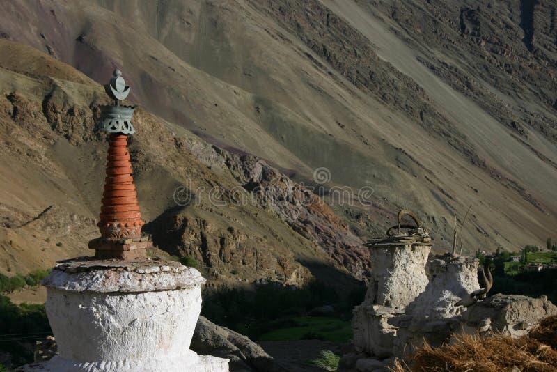 Stupa in Hemis Shukpachan royalty-vrije stock afbeeldingen