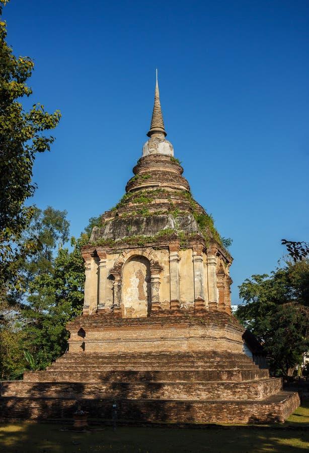 Stupa i Chiang Mai royaltyfri fotografi