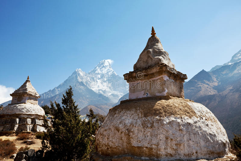 Stupa nel Nepal fotografia stock libera da diritti