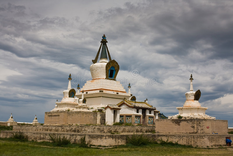 Stupa no monastério Mongolia de Karakorum fotografia de stock royalty free