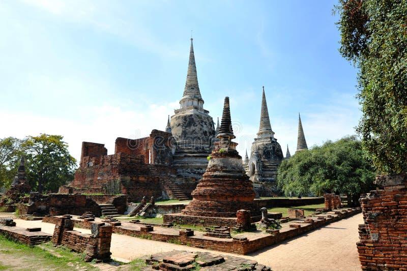 Stupa på wat Phar Srisanphet, Thailand fotografering för bildbyråer