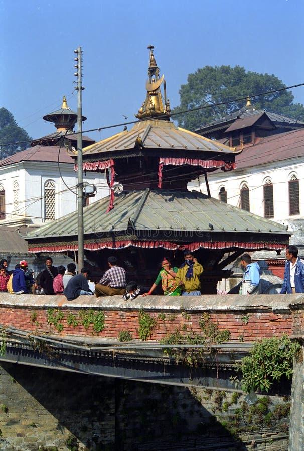 Stupa, Pashupatinath, Nepal. Buddhist stupa in Pashupatinath, Nepal royalty free stock photo