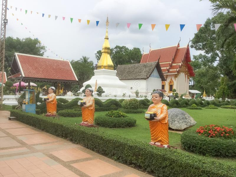 Stupa Phrathat Kham Kaen stock foto