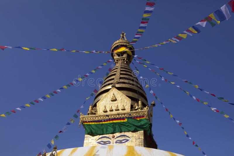 Swayambhunath stupa stock images