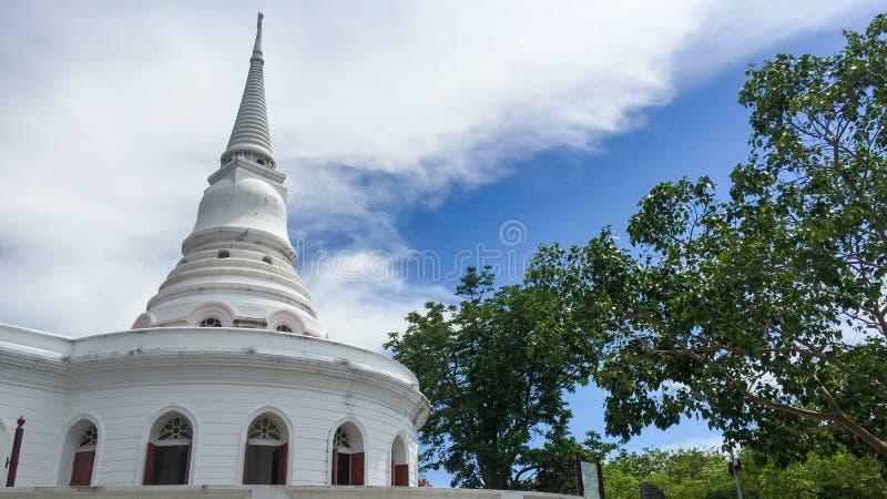 Stupa and Temple Hall, Asadang Nimit Temple, Ko Sichang, Chonburi, Thailand royalty free stock photos