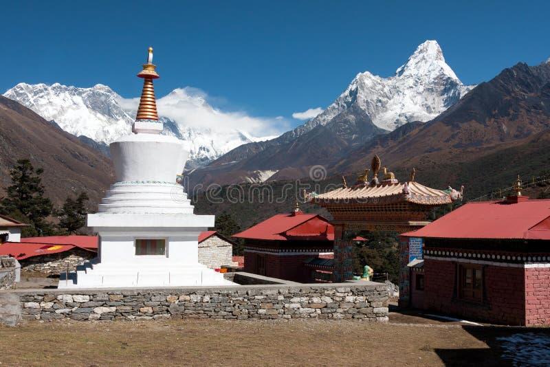Stupa a Tengboche immagini stock