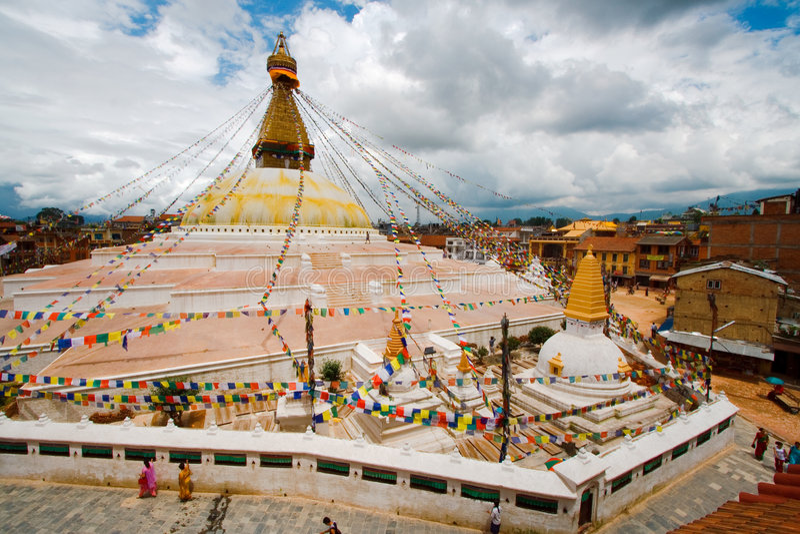 Stupa van Kathesimbhu in Katmandu stock afbeelding