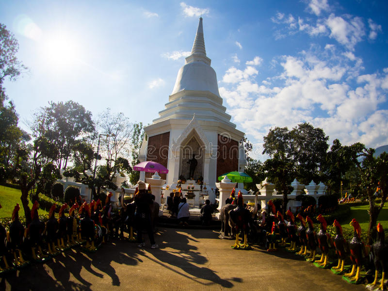 Stupa van Koning Naresuan de Grote Koning Memorial, Chiangdao, Thailand royalty-vrije stock fotografie