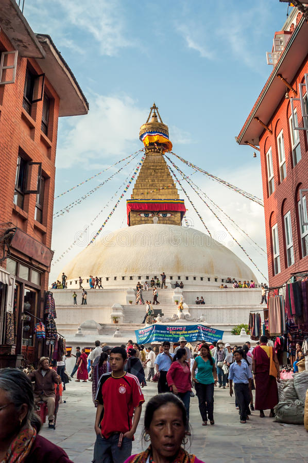 Stupa w Bodnath zdjęcie stock