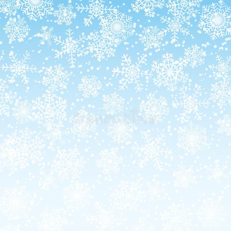Stupade snöflingor royaltyfri illustrationer