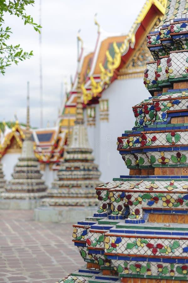 Stupas на Wat Pho стоковое фото rf