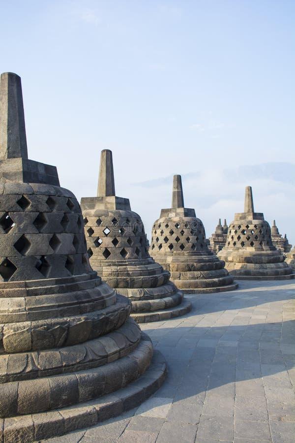 Stupas of Borobudur stock photos