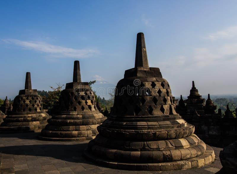 Stupas de Borobudur photographie stock