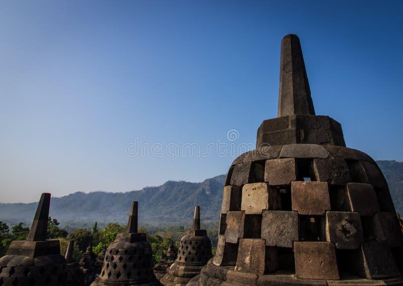 Stupas de Borobudur images libres de droits