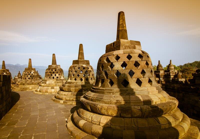 Stupas de Borobudur photo stock