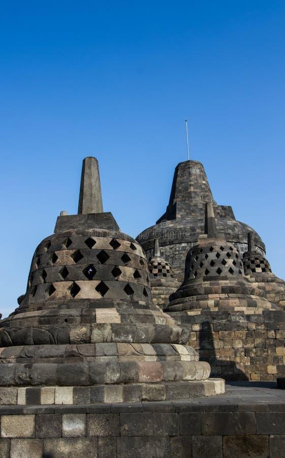 Stupas de Borobudur photographie stock libre de droits