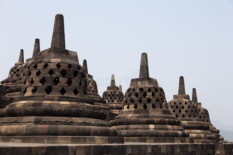 Stupas de temple de Borobudur, Java, Indonésie photos libres de droits