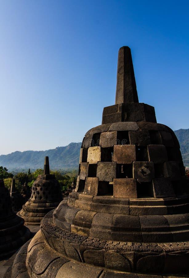Stupas di Borobudur immagini stock