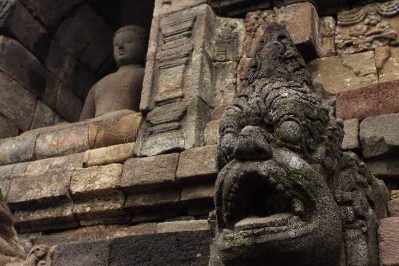 Stupas do templo de Borobudur perto de Yogyakarta, fotos de stock royalty free