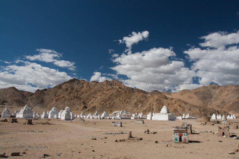 Stupas in Leh stock image