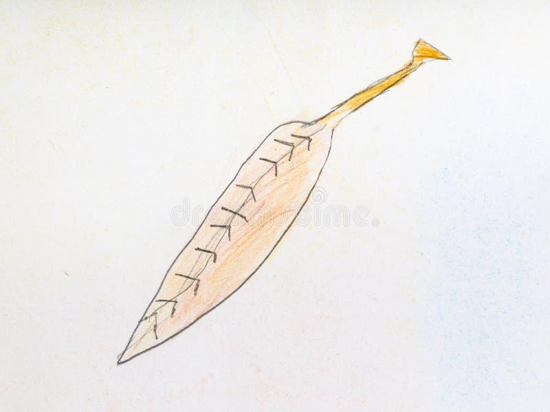 Stupat askablad vid blyertspennor vektor illustrationer