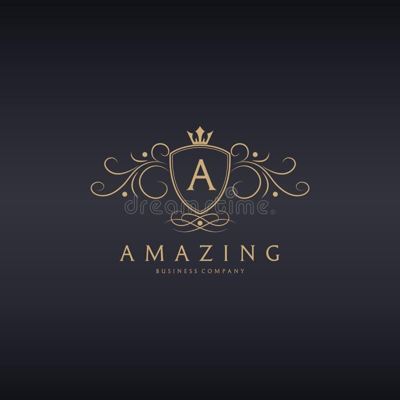 stupore Logo di lusso illustrazione di stock