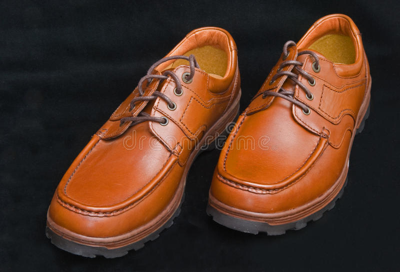 Download Sturdy Brown Laced Walking Shoes. Stock Photo - Image: 14061592