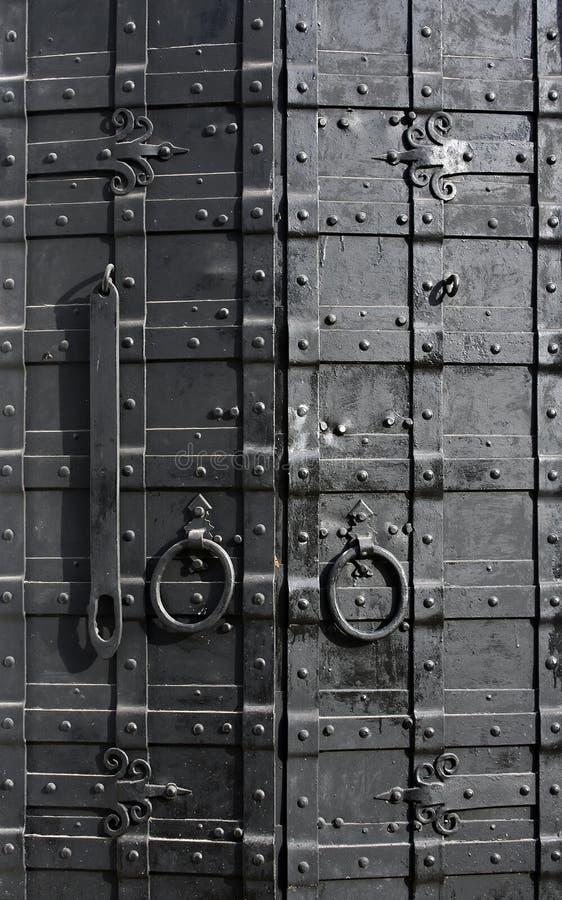 Download Sturdy metal door stock photo. Image of building, hinge - 21242860