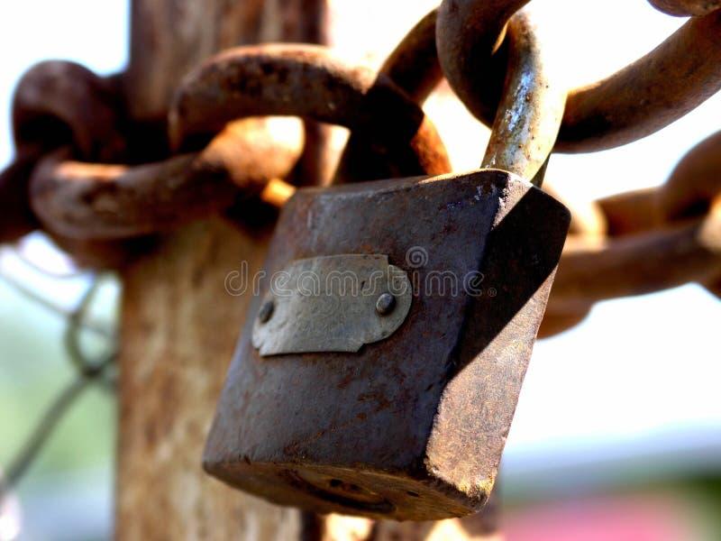 Sturdy padlock royalty free stock photos