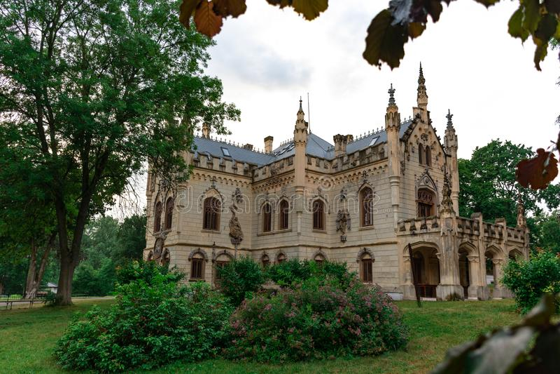 Sturdzakasteel in Miclauseni Roemenië royalty-vrije stock afbeeldingen