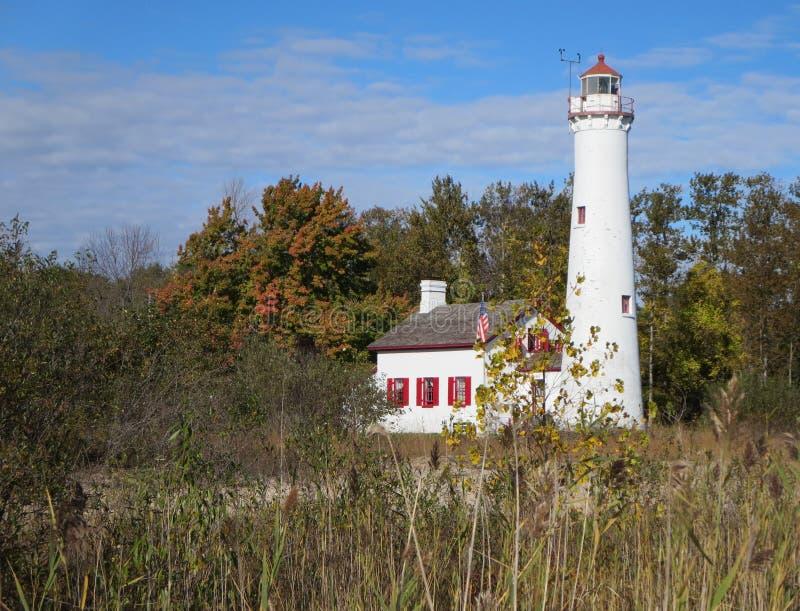Sturgeon Point Lighthouse stock photography