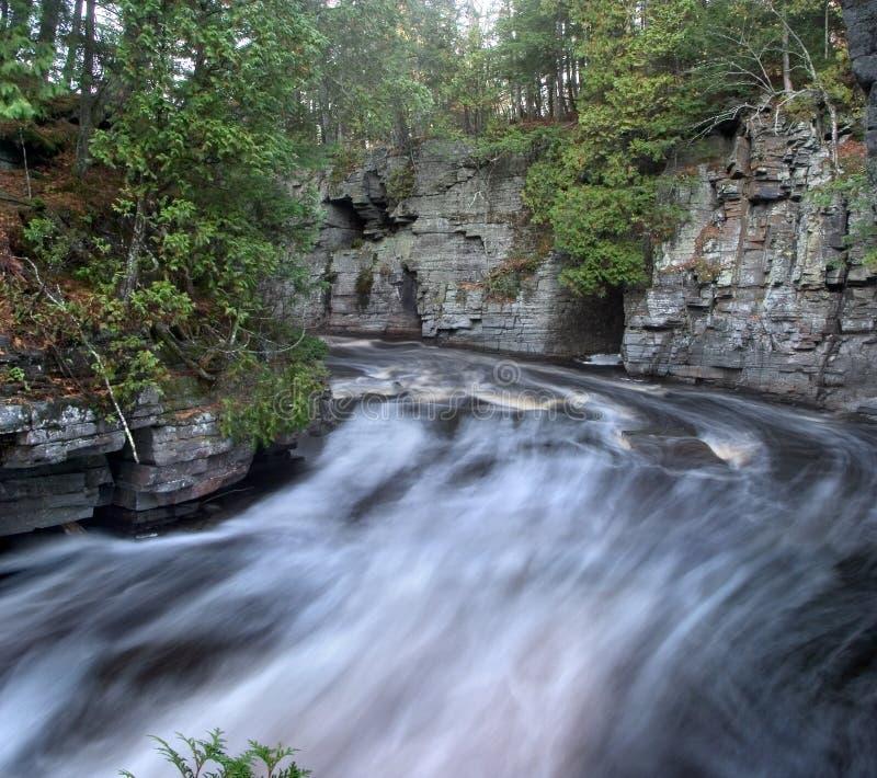 Sturgeon River. Rushing Water, Sturgeon River Gorge, Michigan's Upper Peninsula stock images
