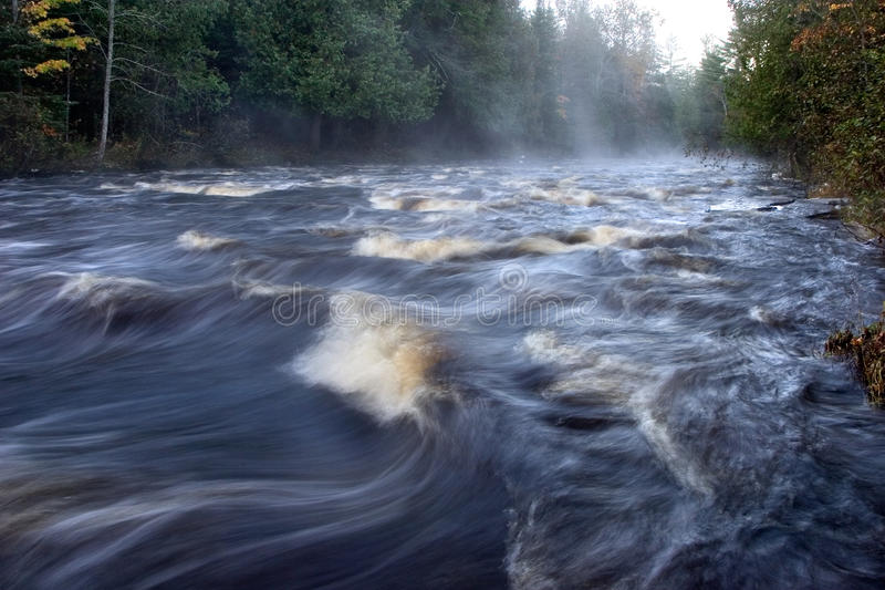 Sturgeon River. Rushing Water, Sturgeon River, Michigan's Upper Peninsula royalty free stock photos