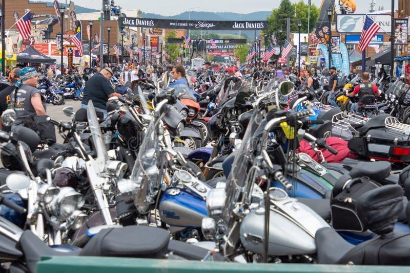 Sturgis, ралли мотоцикла Южной Дакоты стоковое изображение rf