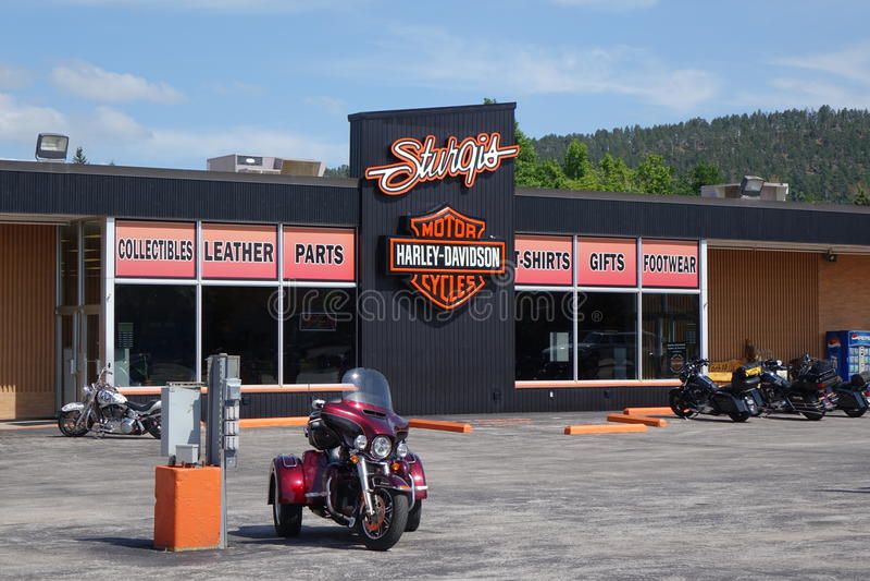 Sturgis Harley Davidson store stock photo