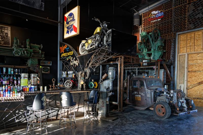 Inside the Full throttle Saloon royalty free stock images