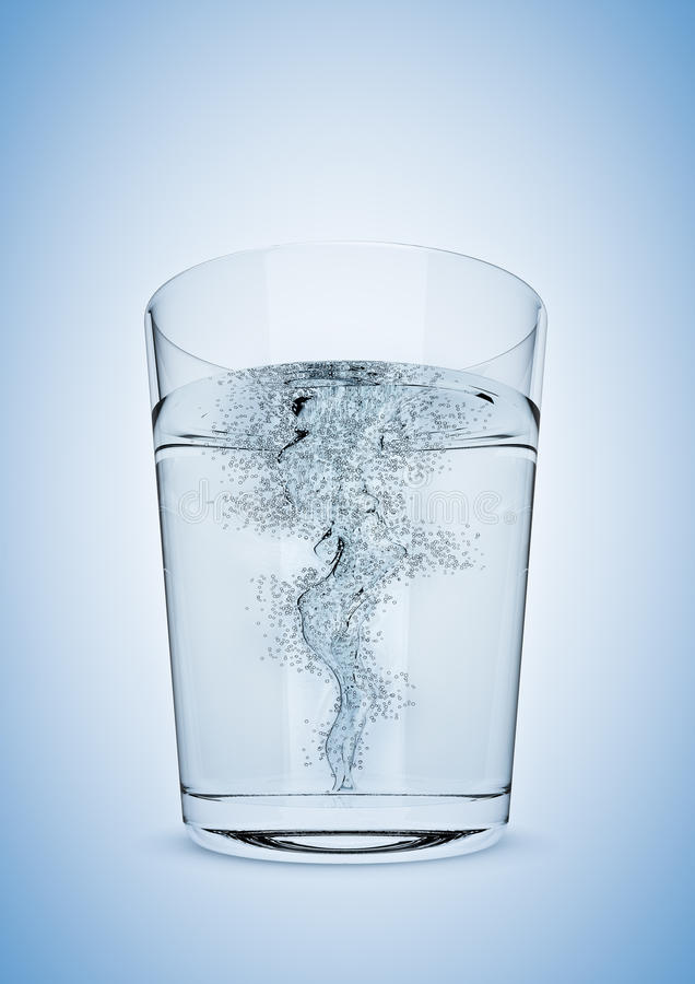 Sturm in einem Glas stock abbildung