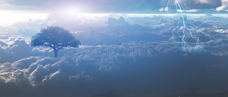 Sturm im Himmel stock abbildung
