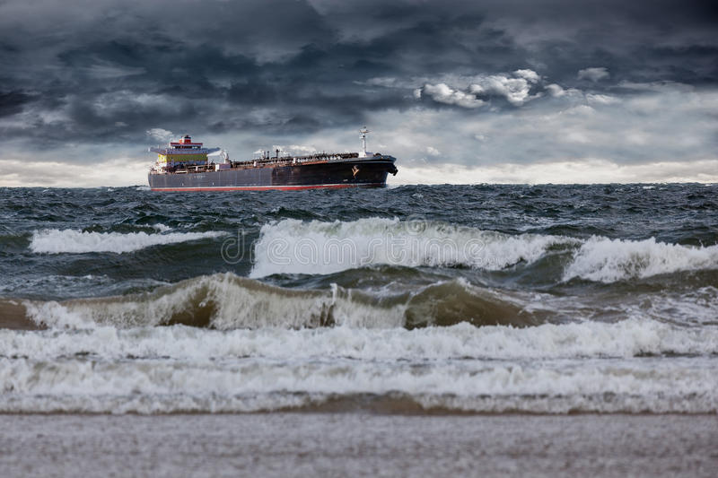 Sturm in Meer stockfoto